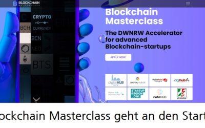 Blockchain Masterclass: Vier Start-ups sind in der ersten Runde dabei