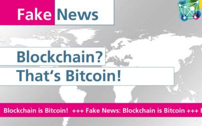 FakeNews #1: Blockchain? That's Bitcoin!
